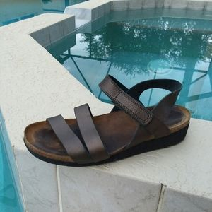 NAOT Bronze Leather Sandal